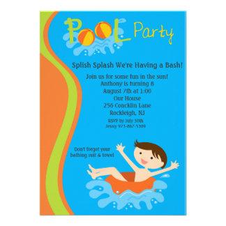 El cumpleaños de la fiesta en la piscina de los mu invitación
