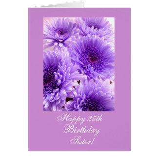 El cumpleaños de la hermana (edad) florece tarjeta de felicitación