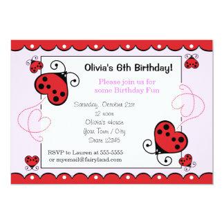 El cumpleaños de la mariquita del corazón del comunicados personalizados