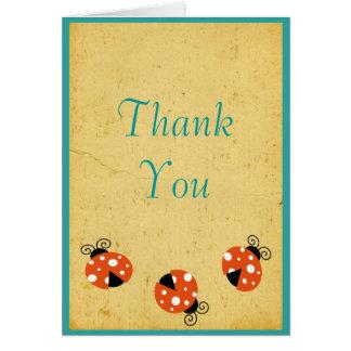 El cumpleaños de la mariquita le agradece tarjeta de felicitación