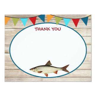 El cumpleaños de la pesca le agradece las tarjetas invitación 10,8 x 13,9 cm