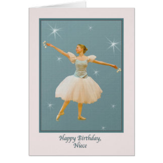 El cumpleaños de la sobrina, bailarín de ballet tarjeta de felicitación