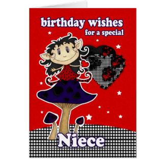 el cumpleaños de la sobrina desea la tarjeta de fe