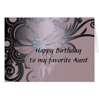 El cumpleaños de la tía tarjeta de felicitación