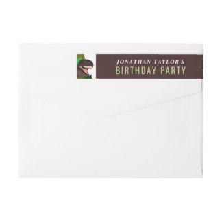 El cumpleaños de los niños del fiesta del etiquetas postales