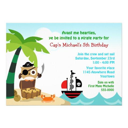 El cumpleaños de los niños del pirata y de la nave anuncio