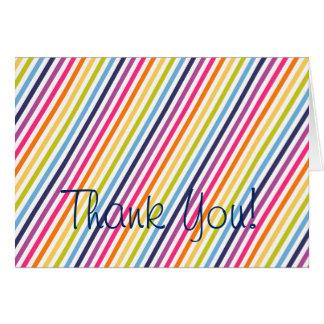 El cumpleaños del arco iris le agradece tarjeta de felicitación