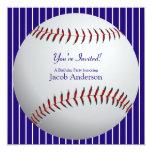 El cumpleaños del béisbol invita invitaciones personalizada