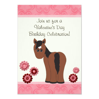 El cumpleaños del caballo y de la tarjeta del día invitacion personal
