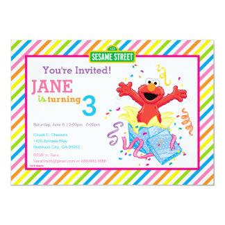 El cumpleaños del chica de Elmo Invitación 12,7 X 17,8 Cm
