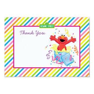 El cumpleaños del chica de Elmo Invitación 8,9 X 12,7 Cm