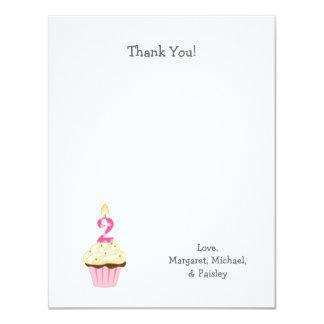 El cumpleaños del chica le agradece en segundo invitación 10,8 x 13,9 cm