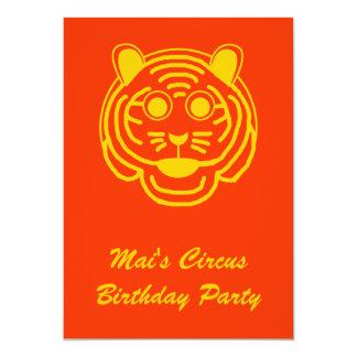 El cumpleaños del circo invita invitaciones personalizada