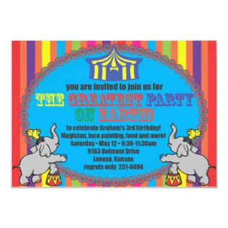 El cumpleaños del circo invita invitación 12,7 x 17,8 cm