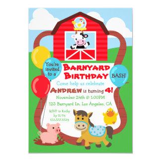 El cumpleaños del corral embroma la invitación -