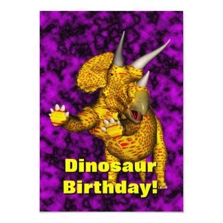 El cumpleaños del dinosaurio invita invitacion personalizada