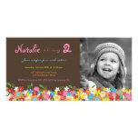 El cumpleaños del jardín de flores de la primavera tarjeta fotografica personalizada