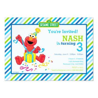 El cumpleaños del muchacho de Elmo Invitación 12,7 X 17,8 Cm