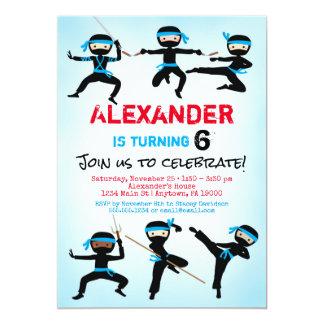 El cumpleaños del muchacho de Ninja de la Invitación 12,7 X 17,8 Cm