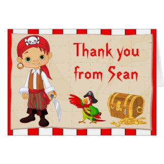 El cumpleaños del muchacho del pirata del Redhead  Felicitacion