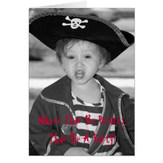 El cumpleaños del pirata invita - modificado para tarjeta de felicitación