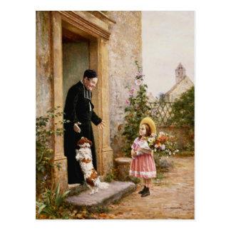 El cumpleaños del sacerdote tarjeta postal