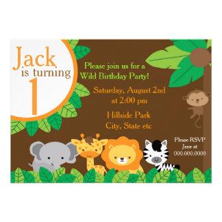 El cumpleaños del safari invita invitación