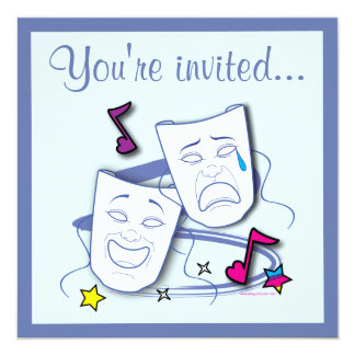 El cumpleaños del teatro de las máscaras de la invitaciones personales