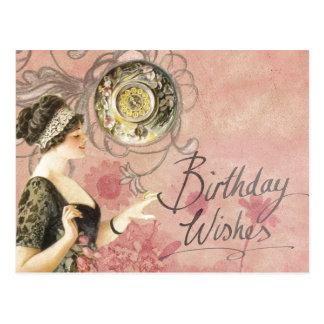 El cumpleaños desea la postal