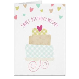 El cumpleaños dulce desea la tarjeta de felicitaci