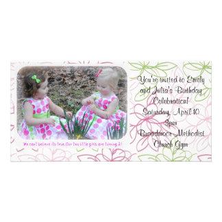 el cumpleaños invita tarjetas fotográficas personalizadas
