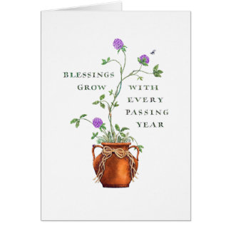 El cumpleaños/las bendiciones crece tarjeta de felicitación