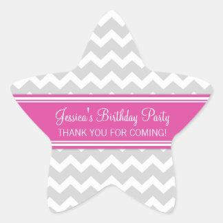 El cumpleaños le agradece rosa conocido de encargo calcomanía cuadrada personalizada