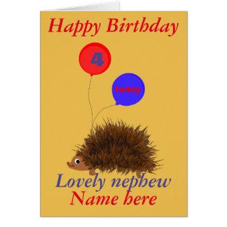 El cumpleaños lindo del sobrino del erizo añade la tarjeta