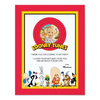 El cumpleaños Looney del grupo el   del carácter Invitación 10,8 X 13,9 Cm