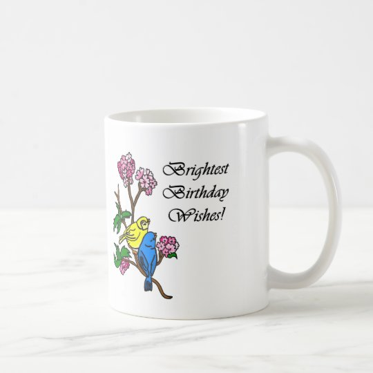 El cumpleaños más brillante desea la taza de café