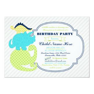 El cumpleaños minúsculo del dinosaurio de Dinos Invitación 12,7 X 17,8 Cm