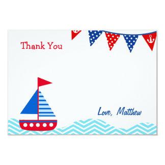 El cumpleaños náutico del velero le agradece las invitación 8,9 x 12,7 cm