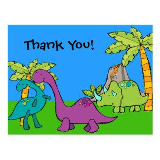 El cumpleaños prehistórico del dinosaurio de Dino Postal