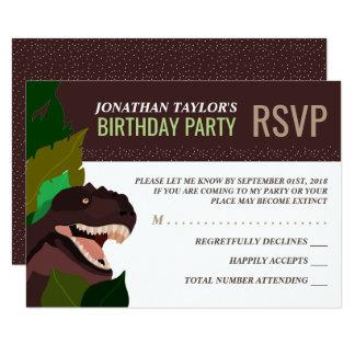 El cumpleaños RSVP de los niños del fiesta del Invitación 8,9 X 12,7 Cm
