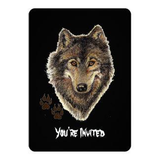 El cumpleaños salvaje del lobo de la cita de los invitación 12,7 x 17,8 cm