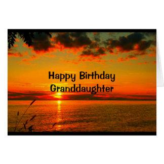 El cumpleaños tan hermoso como usted es nieta tarjeta de felicitación