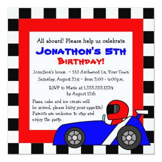 El cumpleaños temático de los niños que compiten invitación 13,3 cm x 13,3cm