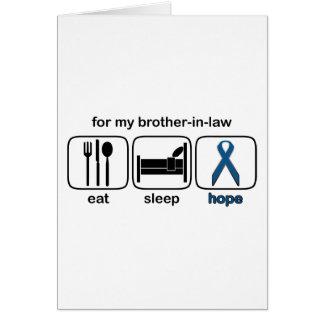 El cuñado come la esperanza del sueño - cáncer de felicitacion