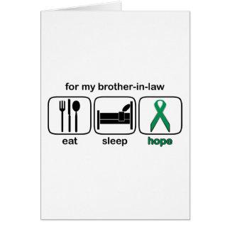 El cuñado come la esperanza del sueño - cáncer del tarjeta de felicitación