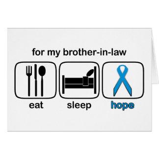 El cuñado come la esperanza del sueño - linfoma tarjetón