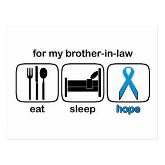 El cuñado come la esperanza del sueño - linfoma postales