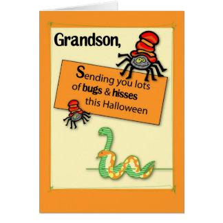 El cuñado fastidia y silba Halloween Tarjeta De Felicitación