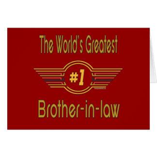 El cuñado más grande del mundo tarjeta