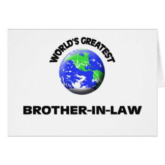 El cuñado más grande del mundo tarjeta de felicitación